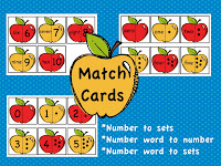 photo of apple number match cards